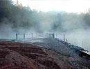 Los Azufres, Ciudad Hidalgo.  En este majestuoso bosque, podrás tomar un baño curativo y embellecedor, en aguas azufrosas o lodo termal.  Ubicado a 20 min al norte de Ciudad Hidalgo
