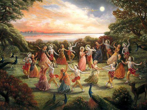 Rasalila by Radha and Krishna in Vrindavan