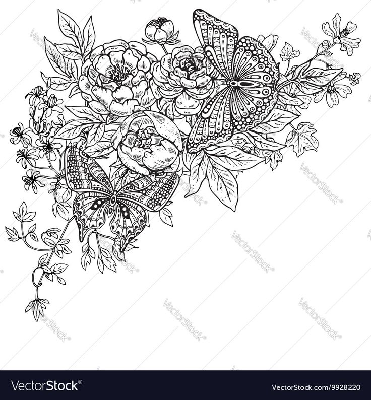 Vector image of Two hand drawn graphic Vector Image, includes black, white, background, pattern & design. Illustrator (.ai), EPS, PDF and JPG image formats.