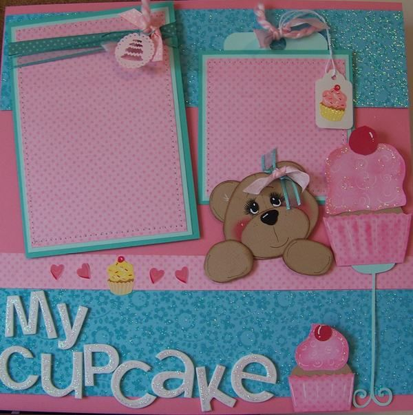 Cute teddy bear cupcake layout on ebay super adorable