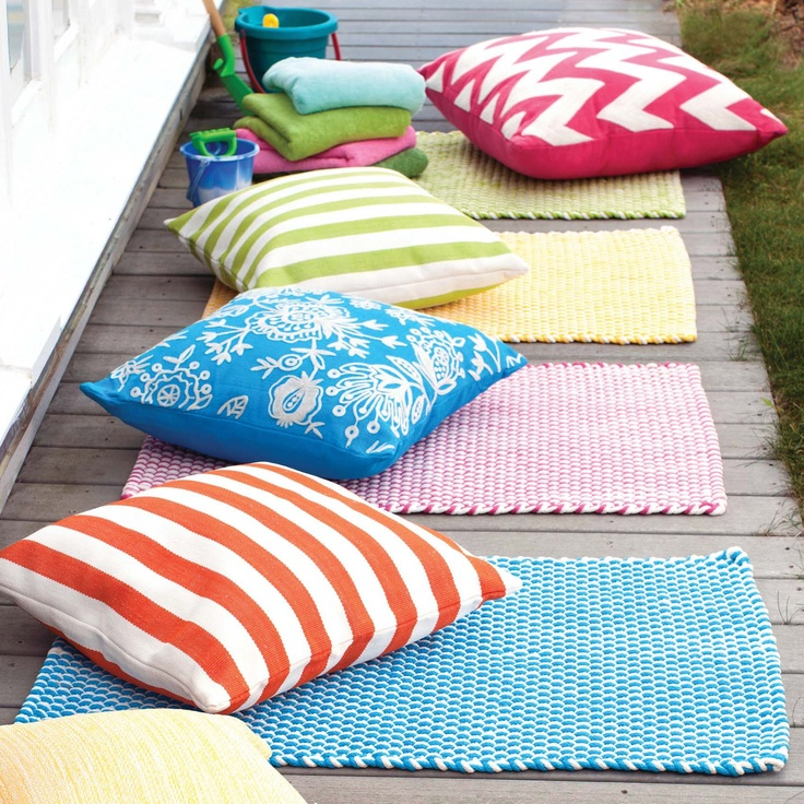 Trina Indoor Outdoor Rug Brown Turquoise: Dash & Albert Two-Tone Rope Turquoise And White Indoor
