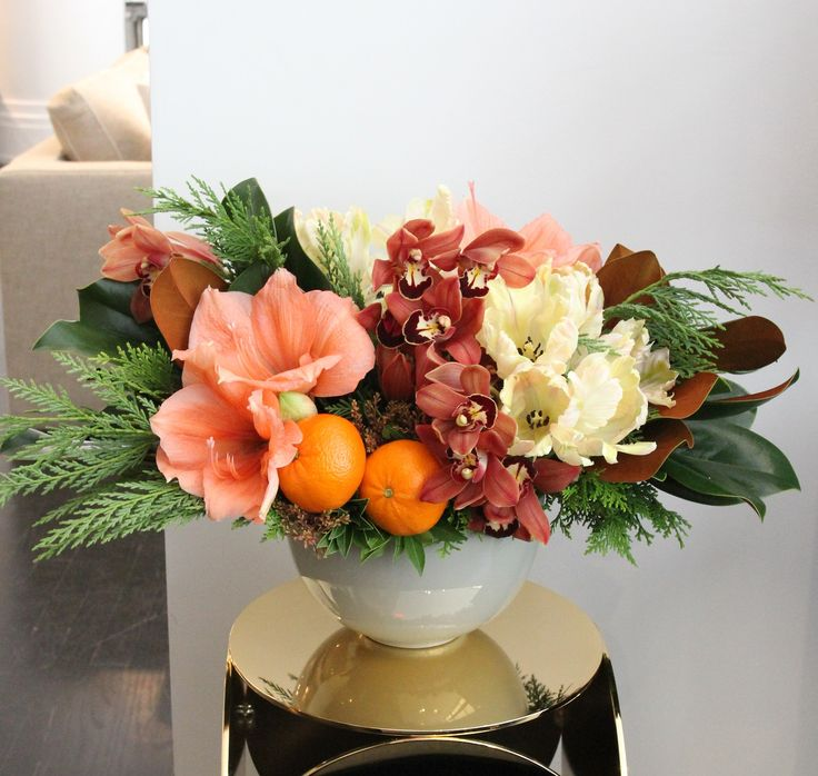 Make a statement at your holiday brunch or send well wishes for the New Year: 'Citrus Radiance' by Winston Flowers.