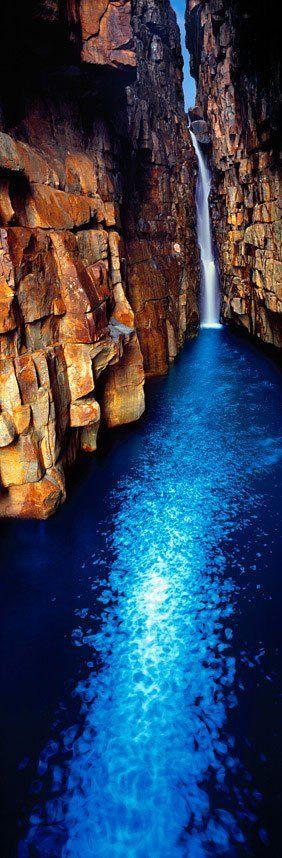 Sapphire pool in Kimberley coast gorge Western Australia