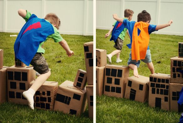 Superhero Party - All superheroes must know how to leap tall buildings in a single bound