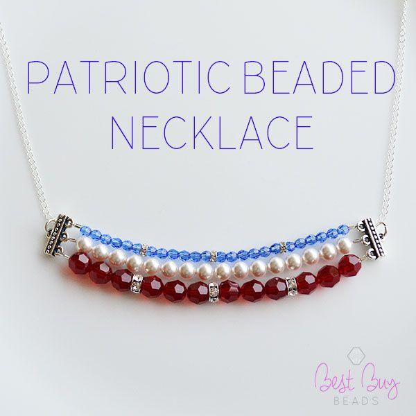 patriotic beaded necklace great for july 4th summer jewelryjewelry designjewelry ideasjuly - Jewelry Design Ideas