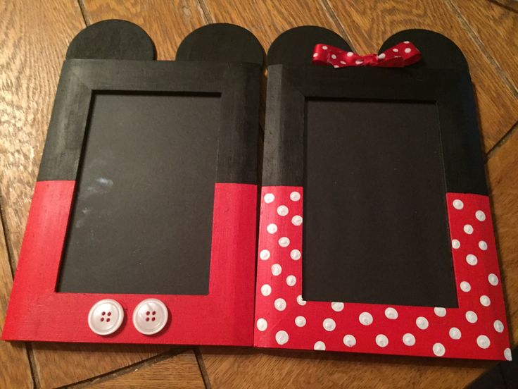 Minnie & Mickey Mouse Picture Frames by SandiQs on Etsy