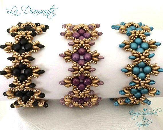 Beading Pattern: La Diamanta Bracelet in English by EnvyBeadwork