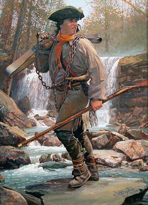 "John Buxton painting - Bear Trap 12"" x 9"" oil"