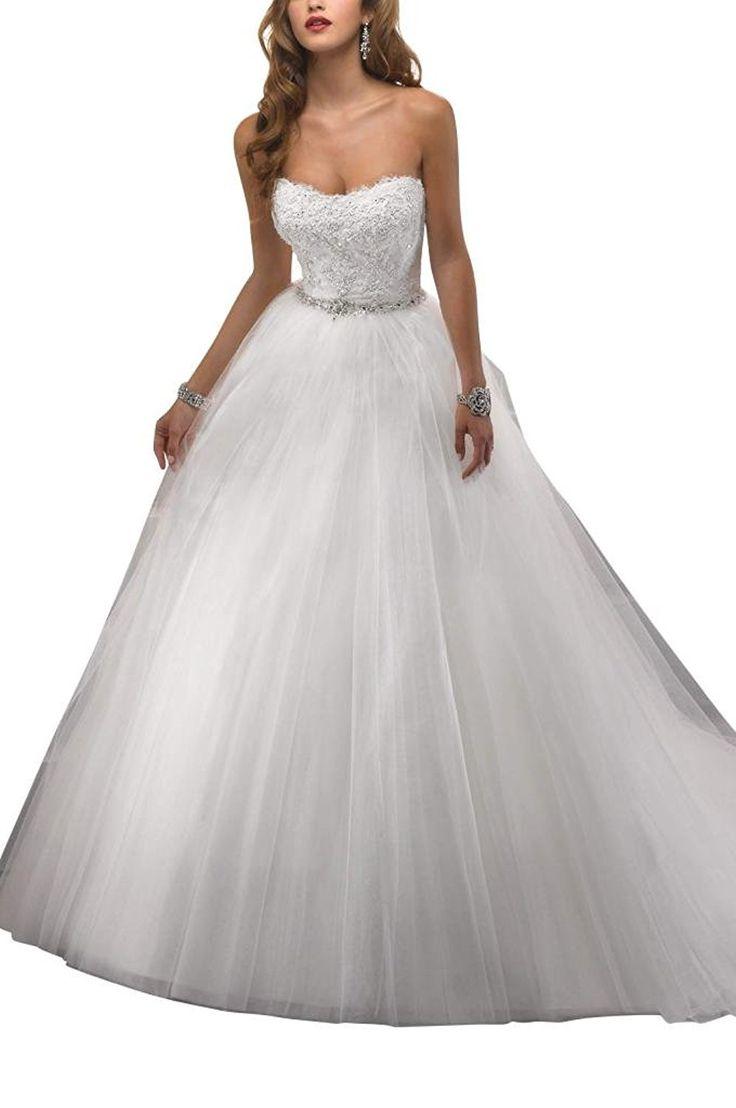 GEORGE BRIDE oberen Alle Hand-Perlen Abziehbilder A-Linie Brautkleider  Brautkleider Hochzeitskleider,Groesse