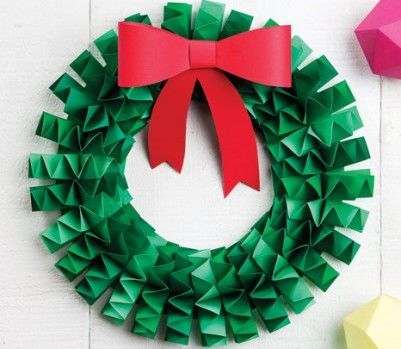 paper wreath : 折り紙・画用紙で作る海外のオシャレな【クリスマスリースの作り方】 - NAVER まとめ