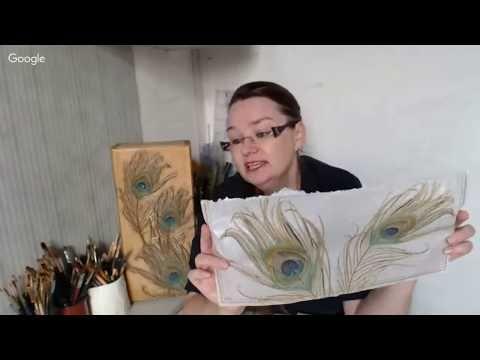 Вероника Кисель_Перо павлина - излюбленный мотив модерна. 13.06.2017 - YouTube