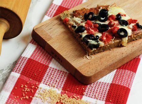 Rezept Kalorienarmer Pizzateig aus Couscous und Broeseln