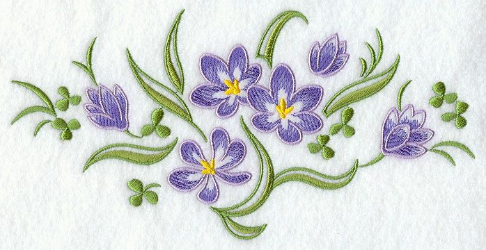 Crocus Spray design (D4449) from www.Emblibrary.com