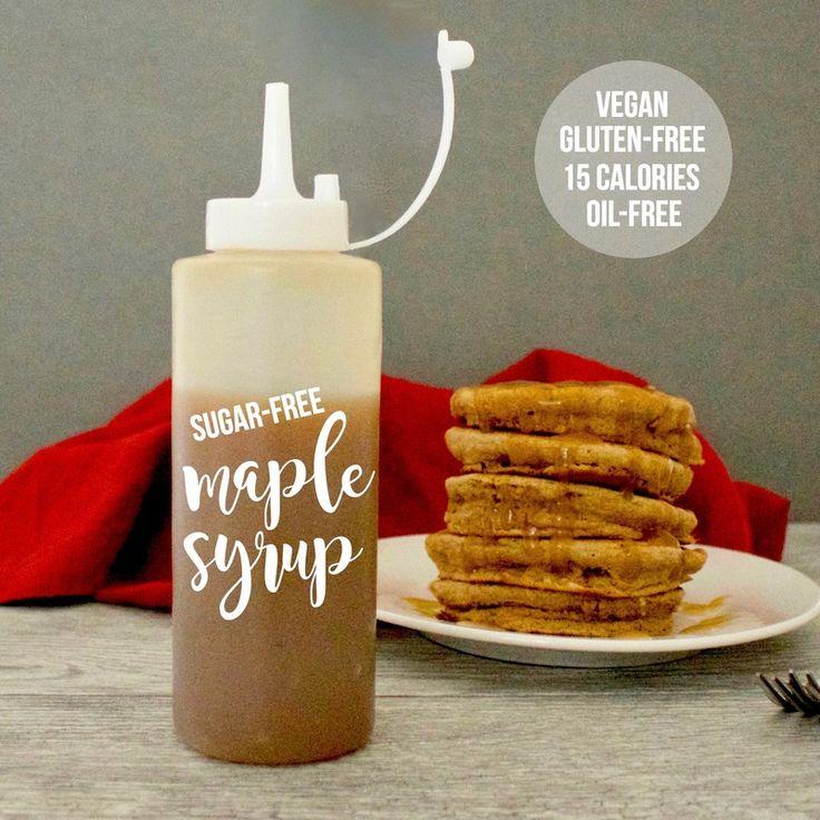 Sugar-Free Maple Syrup (Vegan, Gluten-Free, Oil-Free, Low-Calorie)