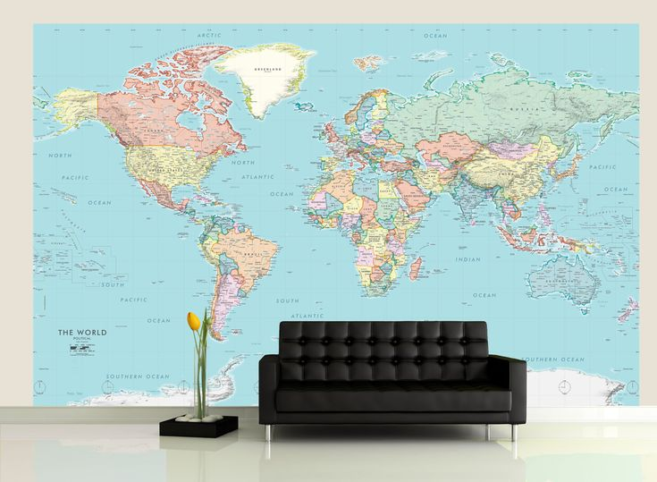 20 best Map Murals  Wallpaper Maps images on Pinterest  Wall