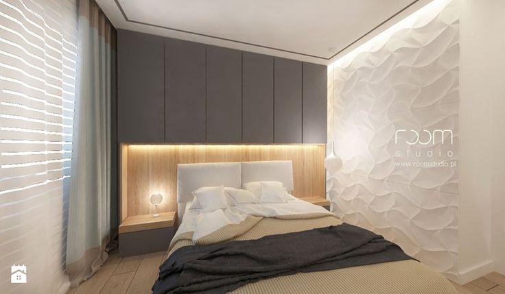 Mieszkanie w Poznaniu - Mała sypialnia małżeńska, styl minimalistyczny - zdjęcie od ROOM STUDIO