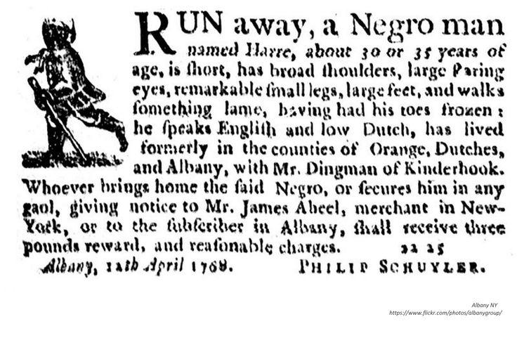 https://flic.kr/p/ZLfhMf | Philip schuyler runaway slave ad 1769