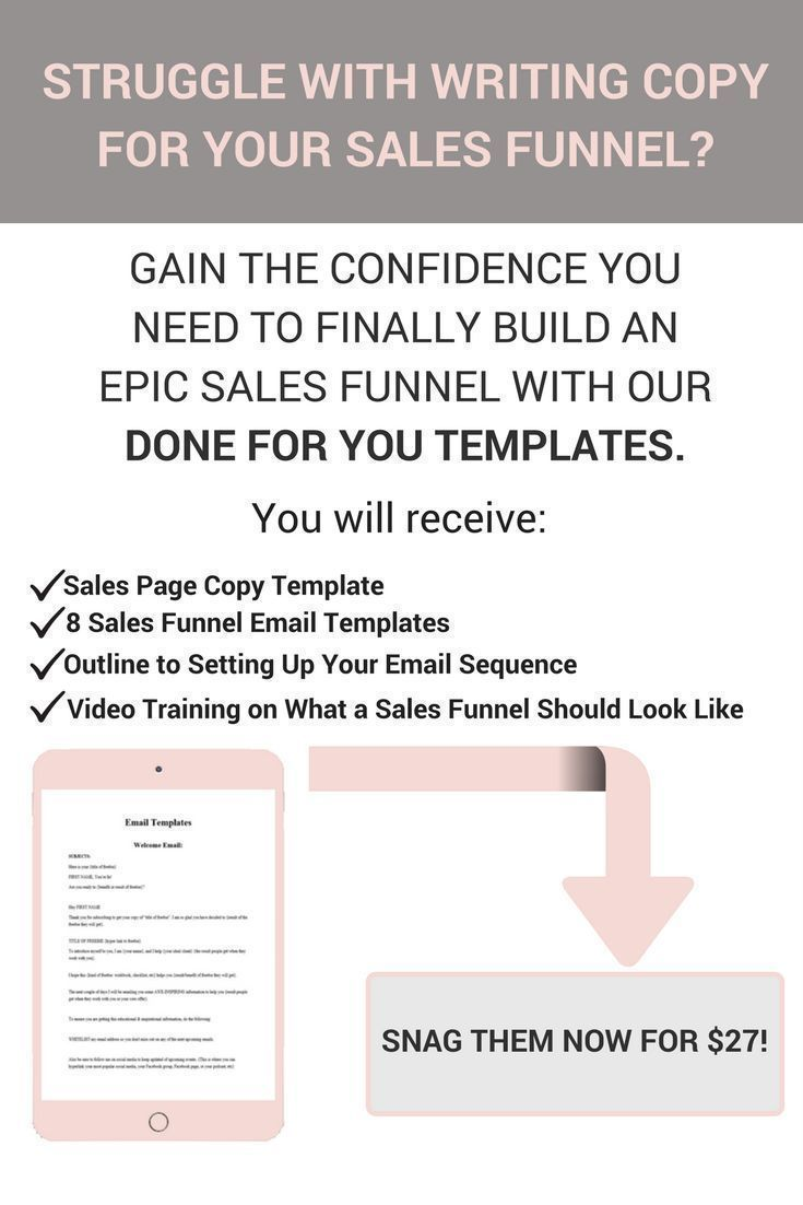 done for you sales funnel email templates copywriting tips copy