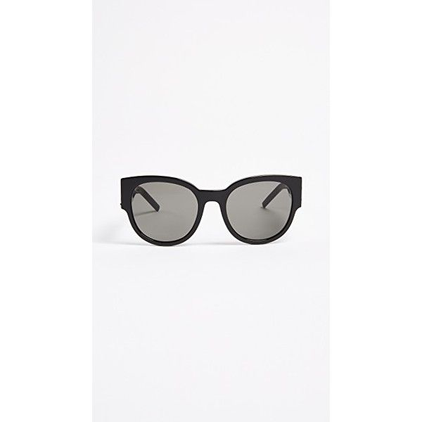 dac4678a3ec Saint Laurent SL M19 Sunglasses ($450) ❤ liked on Polyvore featuring  accessories, eyewear, sunglasses, yves saint laurent sunglasses, round  frame glasses, ...