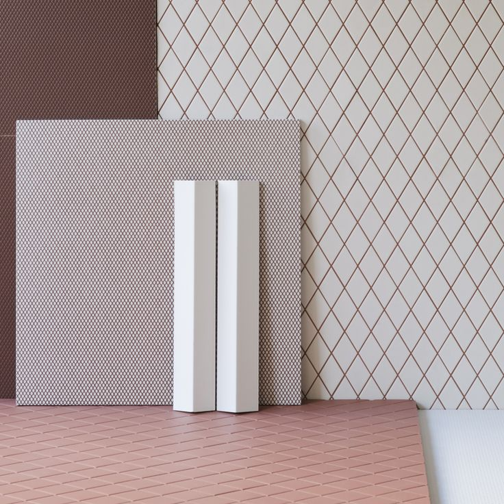 French design duo Ronan and Erwan Bouroullec have created a range of porcelain tiles that can be combined to create various pattern and shape configurations
