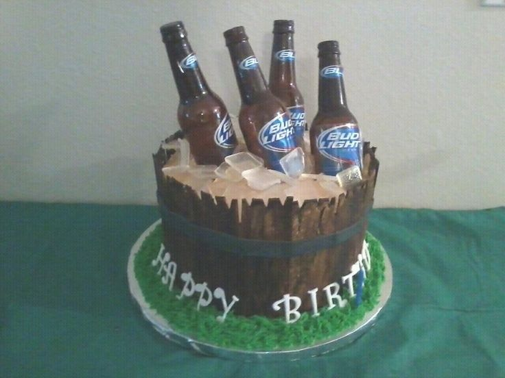 beer Birthday Cakes for Men | beer bucket cake it s a 3 layer marble cake with chocolate gnache ...