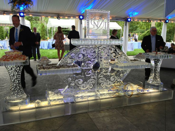 Shully Darling Seafood Table Ice Sculpture