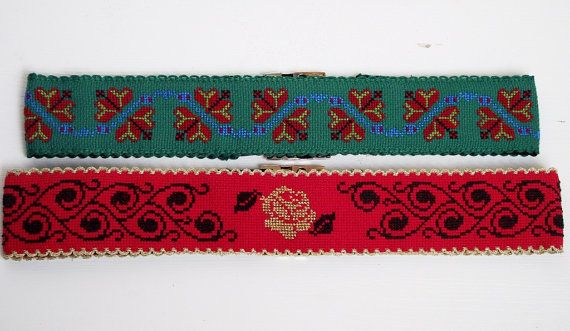 Handmade embroidery belt by jumini on Etsy, $100.00