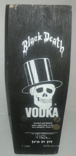 Black Death Vodka Coffin Box Rare - Wooden Collectible - Signed Guns N Roses