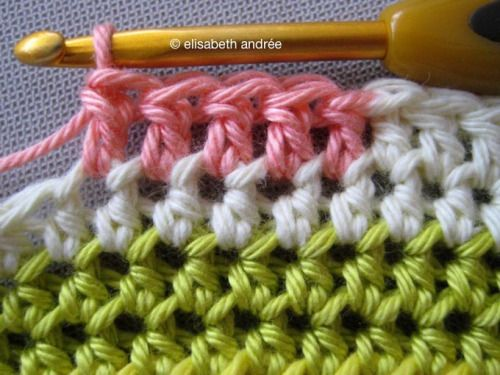 Changing colors double crochet Tutorial