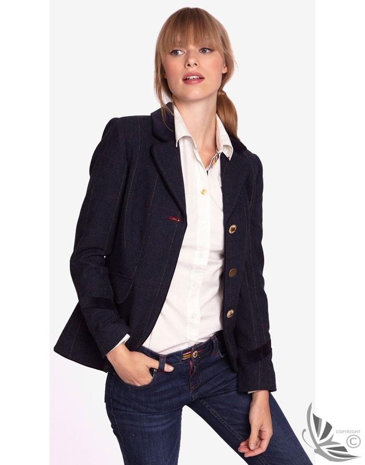 Joules Ladies' Stowford Classic Country Tweed Coat