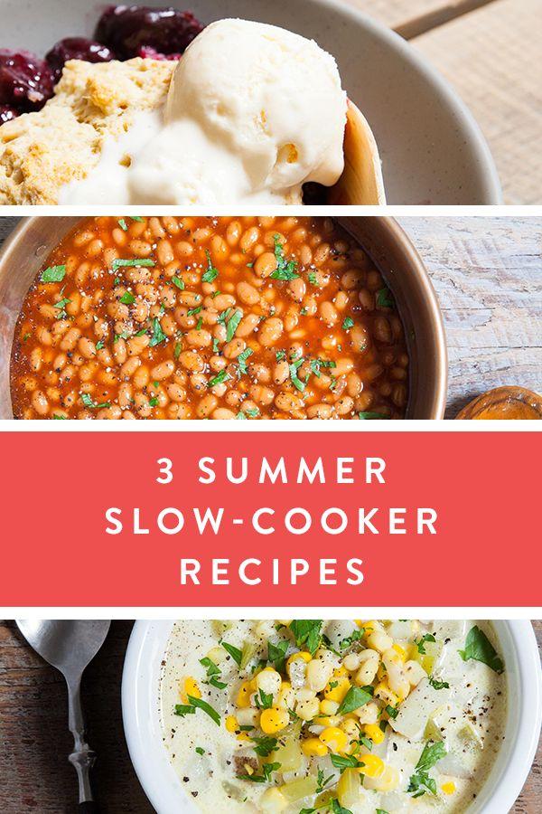 3 Summer Slow-Cooker Recipes via @PureWow