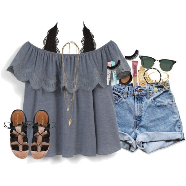 A fashion look from June 2016 featuring MANGO tops, Levi's shorts and Charlotte Russe bras. Browse and shop related looks.