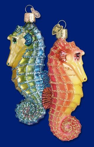 Sea Horse (a), 4 ¼  Retail $12.99  Old World Christmas Glass Ornament
