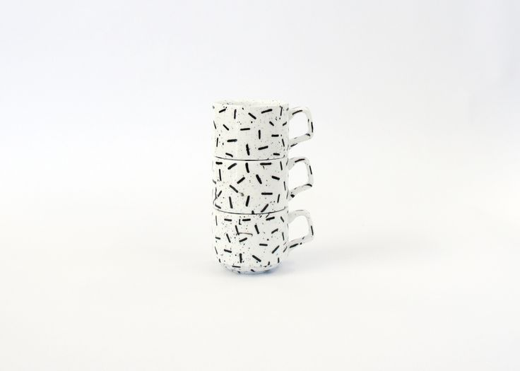 SQUIGGLE ESPRESSO CUPS BY EL-AICH DESIGNS