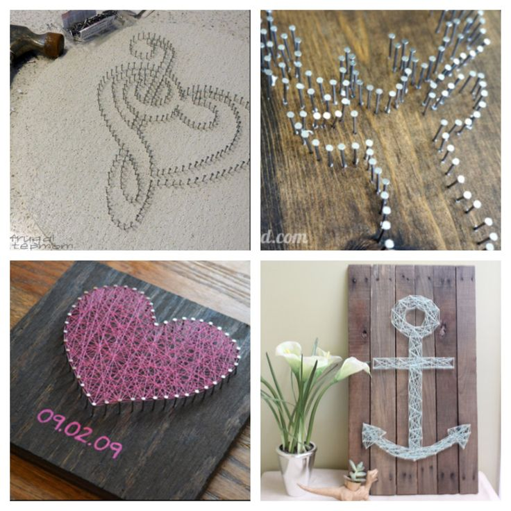 Nail string art diy pinterest nail string art for Diy nail and string art