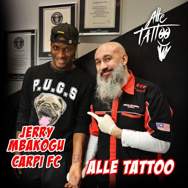 Un onore aver tatuato oggi il grande Jerry Mbakogu del #carpifc1909   #attaccante   #football   #calcio   #alletattoo   #guinnessworldrecords
