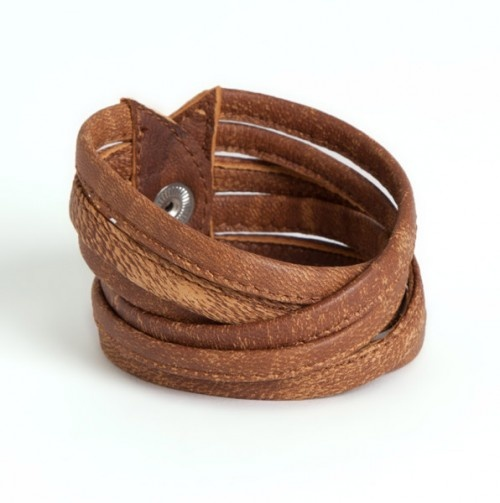 Criss Cross Leather Bracelet
