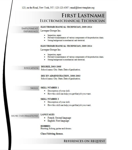 16 best Job Application Templates images on Pinterest Templates - resume template libreoffice