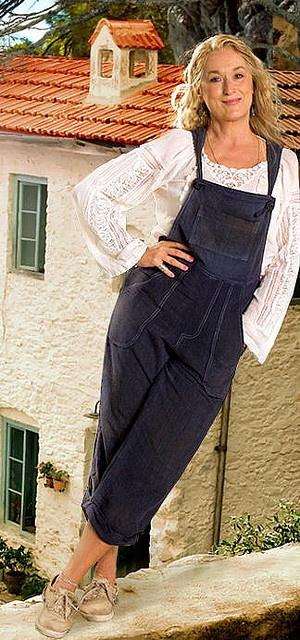 "Meryl Streep during the filming of ""Mamma Mia!"" in Skopelos"