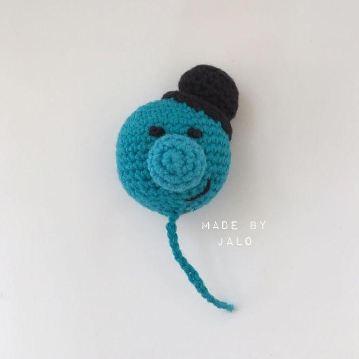 ⭐️jeg vil have en blå ballon 💙😍👌🏼 Opskriften er freestyle 👍🏼😃😍 ⭐️blue ballon 💙😍👌🏼 The pattern is fre - made_by_jalo