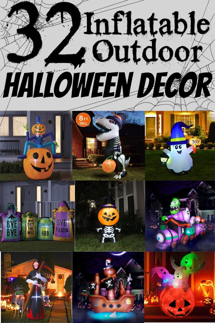 Inflatable Yard Ornaments Halloween 2020 Inflatable Halloween Yard Decorations in 2020 (With images