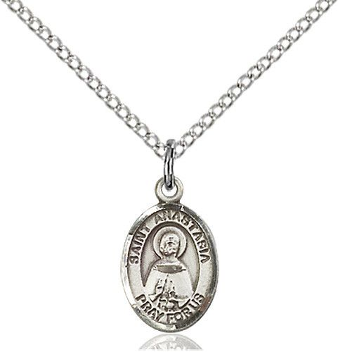 St. Anastasia Pendant (Sterling Silver)