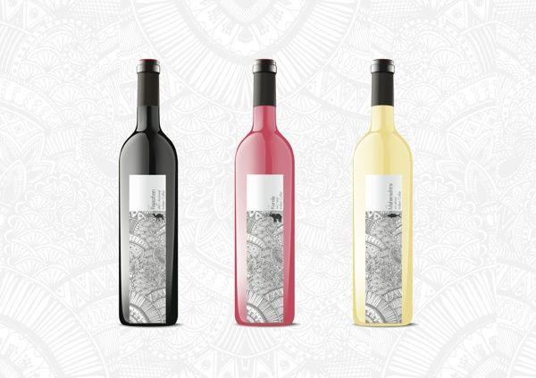 http://www.behance.net/gallery/Wine-Bottle-Packaging/7526497