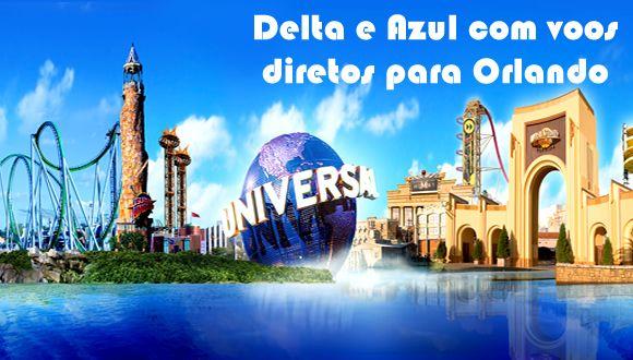 Delta e Azul terão voos diretos para Orlando com saída em Guarulhos #delta #azul #notícias