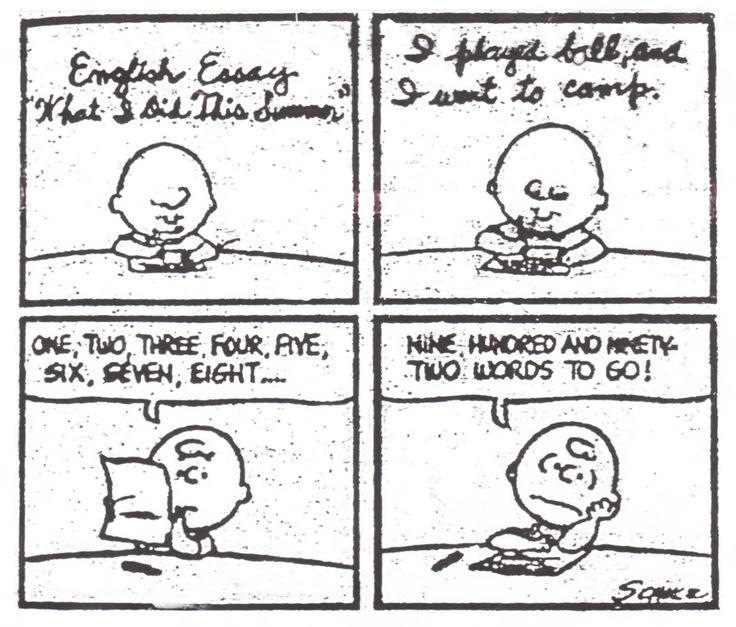 peanuts comic strip charlie brown beginning to write an essay peanuts comic strip charlie brown beginning to write an essay counts 8 words then claims only having to write 900 and 92 words to go