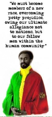 Emperor Haile Selassie I of Ethiopia -- Known as RasTafari the 1st. Rules the throne!