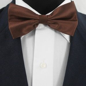 Brown Bow Tie Set / Wedding Bow Tie Set