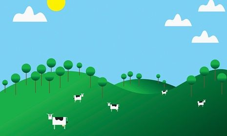 The fairy tale farm is harmonious and kind--our belief in the fairy tale makes it easier for us to eat meat. The Guardian, 2015