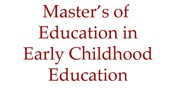 Master thesis early childhood education