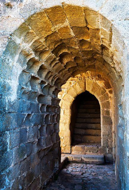 Puerta de la Torre del Homenaje en el Castillo de Elvas (Portugal)